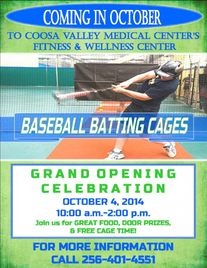Baseball Batting Cages Flyer